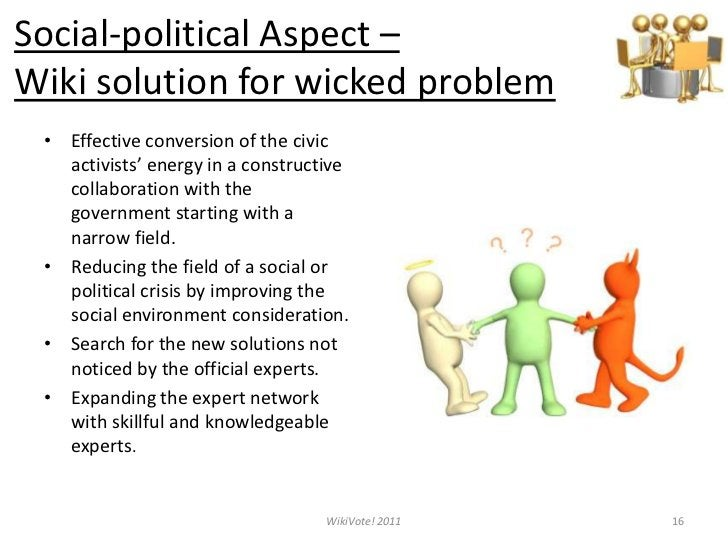 The infrastructure for suggesting, commenting, discussing, editing and voting is offered.