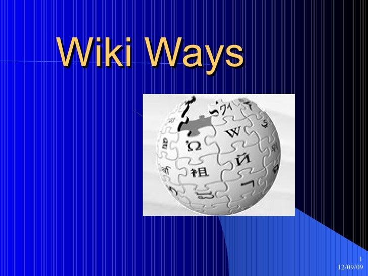 Wiki Ways