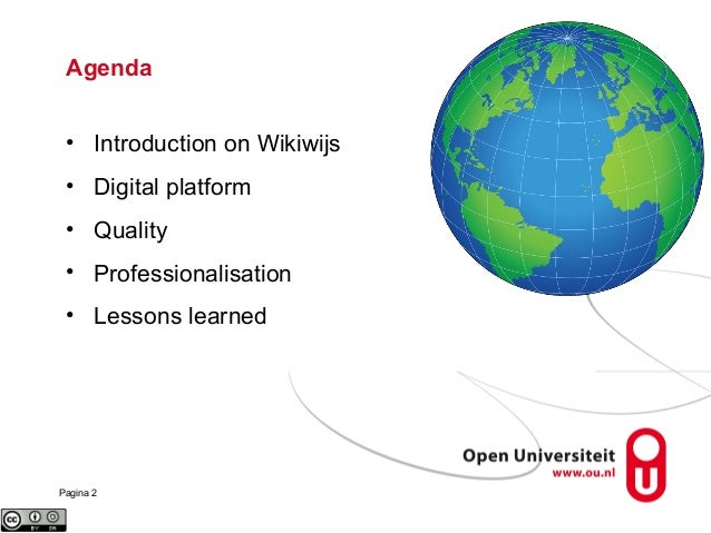 Wikiwijs, a national initiative on OER in The Netherlands Slide 2