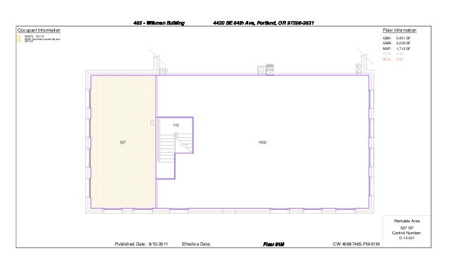 465 - Wikman Building                 4420 SE 64th Ave, Portland, OR 97206-3631Occupant Information                       ...