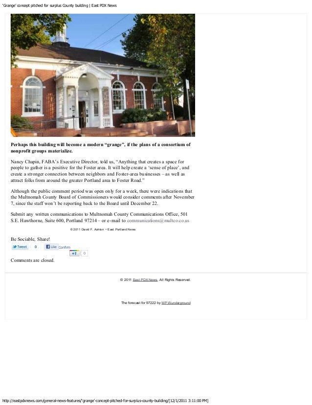 Support the Wikman Neighborhood Grange Hall!   SE Uplift Neighborhood Coalition                                           ...