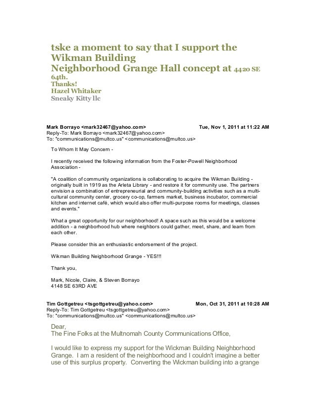 would offer a much needed center for community involvement, as well as help Foster-Powell on its continued development fro...