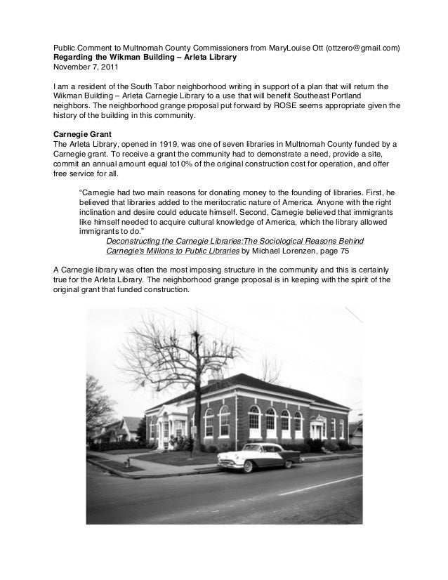 Neighborhood LegacyThe Wikman Building – Arleta Library is not only a jewel of a building with recognized historicalsignif...