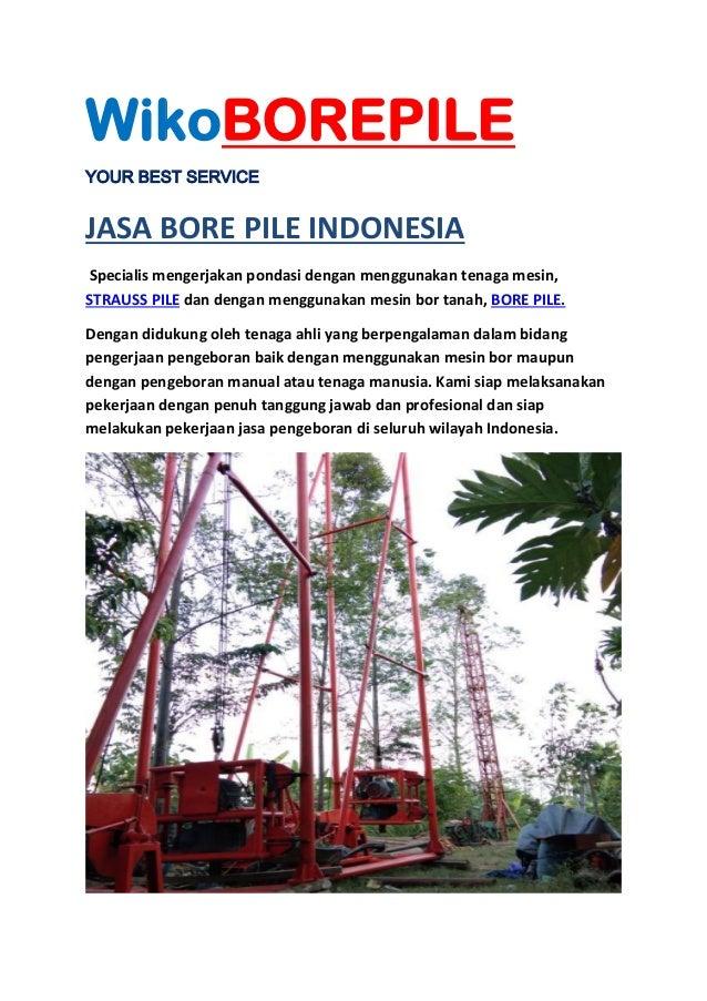 Jasa Bore Pile Balikpapan Telp 082231197352