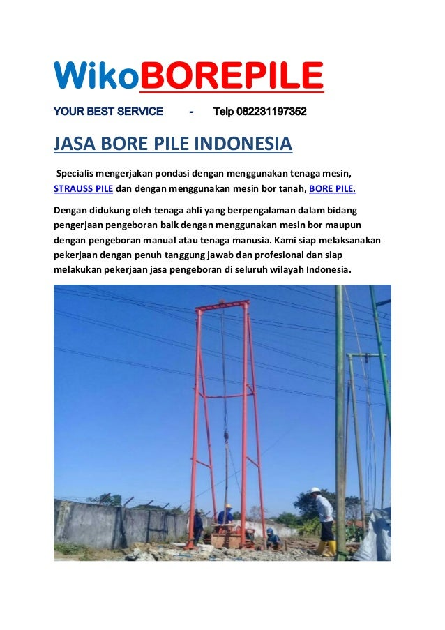 Jasa Bore Pile Sidoarjo Surabaya