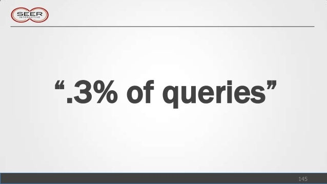 """"""".3% of queries""""                   145"""