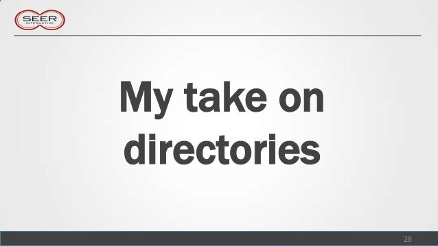 My take ondirectories              28