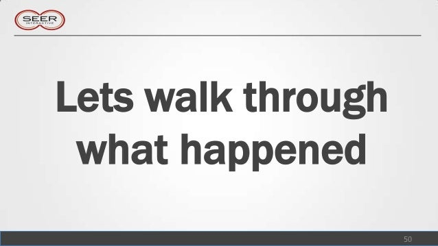 Lets walk through what happened                    50