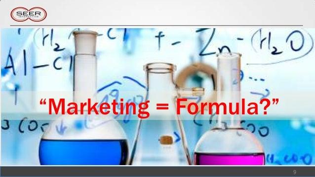 """""""Marketing = Formula?""""                         9"""