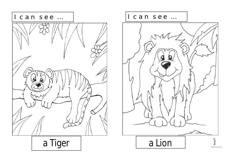 I can see …     I can see …                                   Ana F.       a Tiger       a Lion