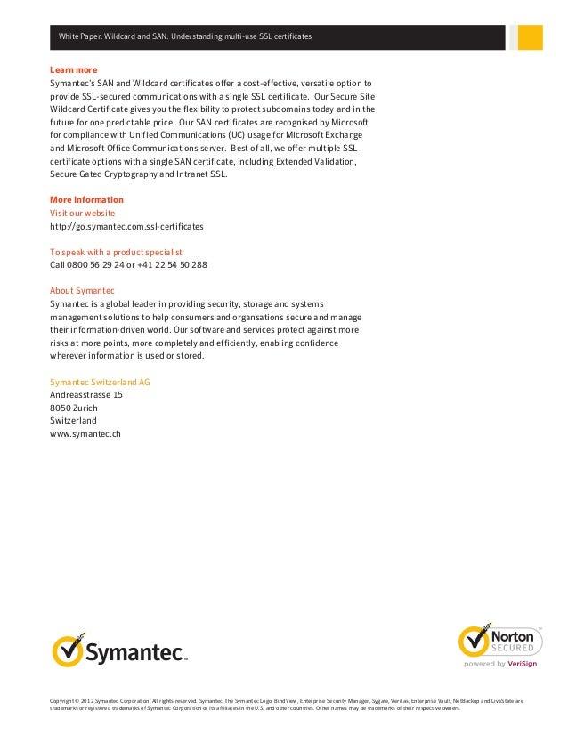 Wildcard And San Understanding Multi Domain Ssl Certificate