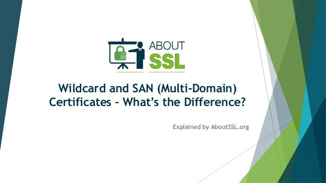 Wildcard and SAN (Multi-Domain) Certificates – What's the Difference? Explained by AboutSSL.org