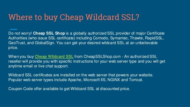 Important Things to Know about Wildcard SSL Certificate