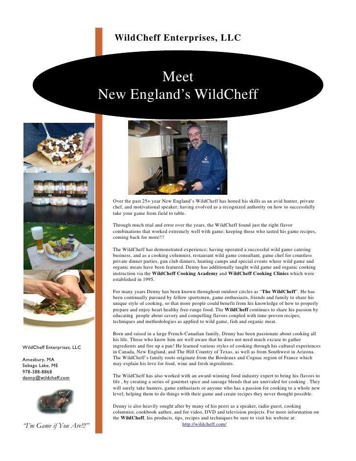 WildCheff Enterprises, LLC                                          Meet                              New England's WildCh...