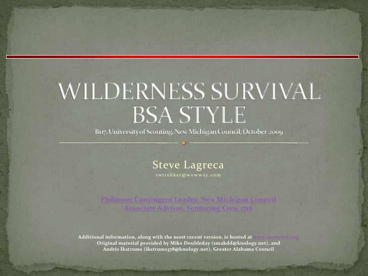 Wilderness Survival & Scouting Skills Workshop | Troop 107