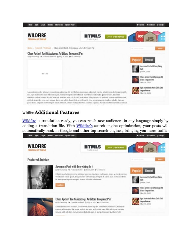 Wildfire   traditional magazine wordpress theme