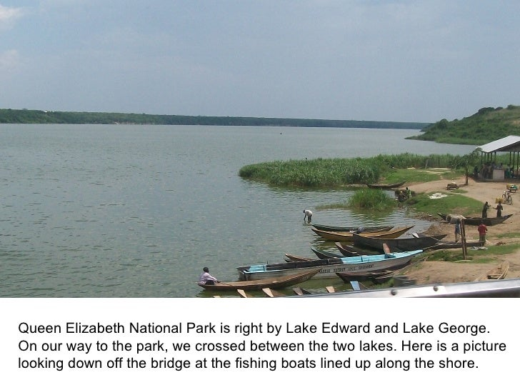 Queen Elizabeth National Park is right by Lake Edward and Lake George.On our way to the park, we crossed between the two l...