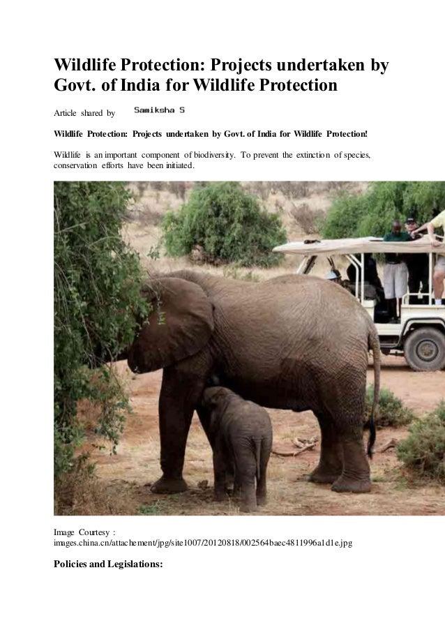 wildlife conservation in india pdf