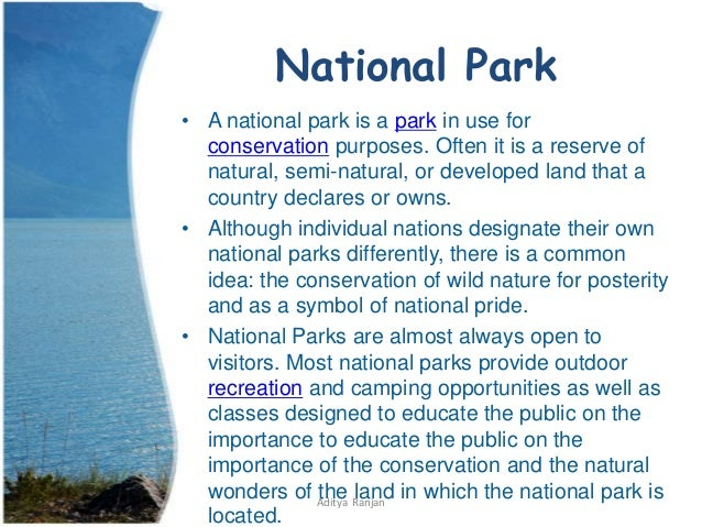 difference b w national park and biosphere reserve