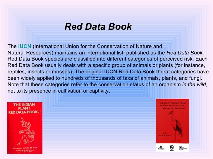 Red Data Book Of Indian Plants