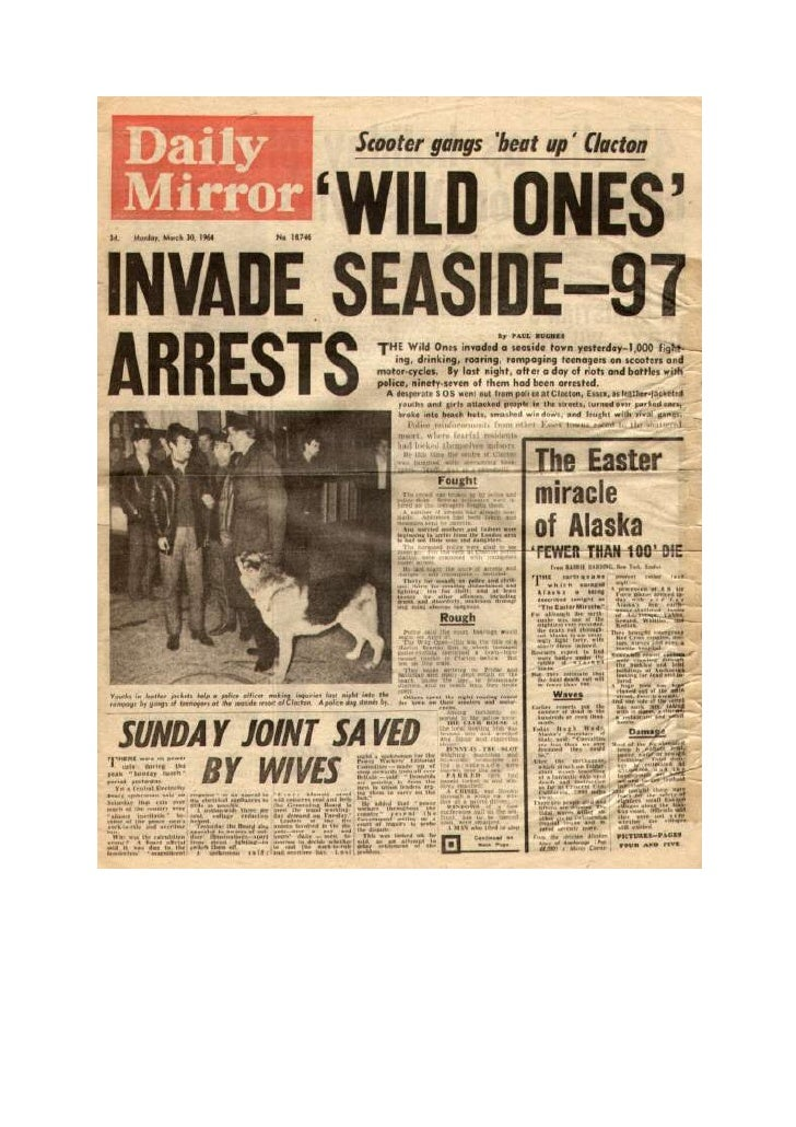 Daily Mirror, 1964, Mods and Rockers