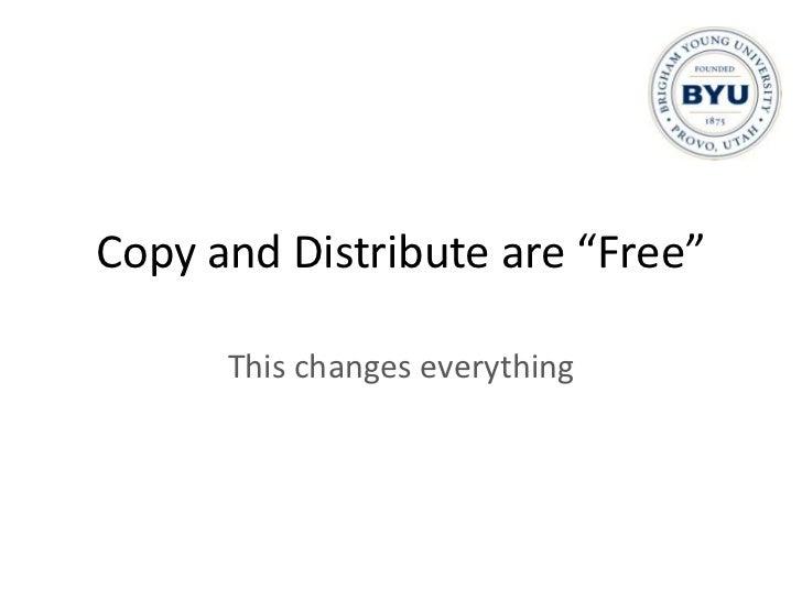 "Copy by computer - $0.00084</li></li></ul><li>Cost of ""Distribute""<br />For one 250 page book:<br /><ul><li>Distribute by ..."
