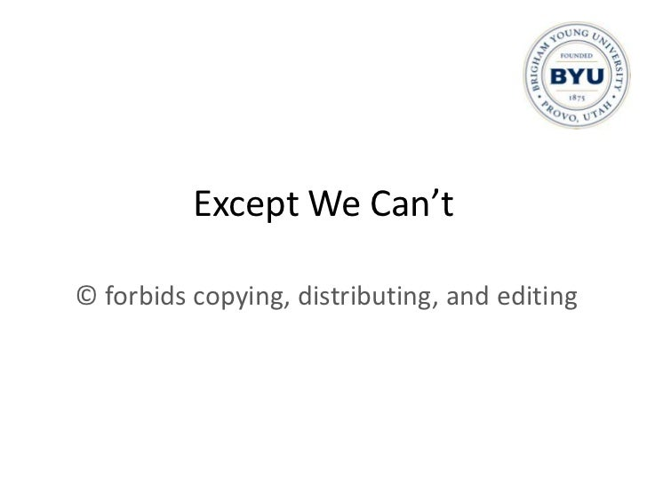 Free Copy, Distribute, Edit<br />We can educate as never before<br />