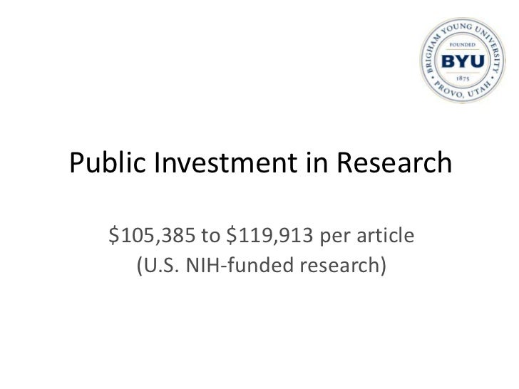 Who Pays for Research?<br />Understanding relative contributions<br />