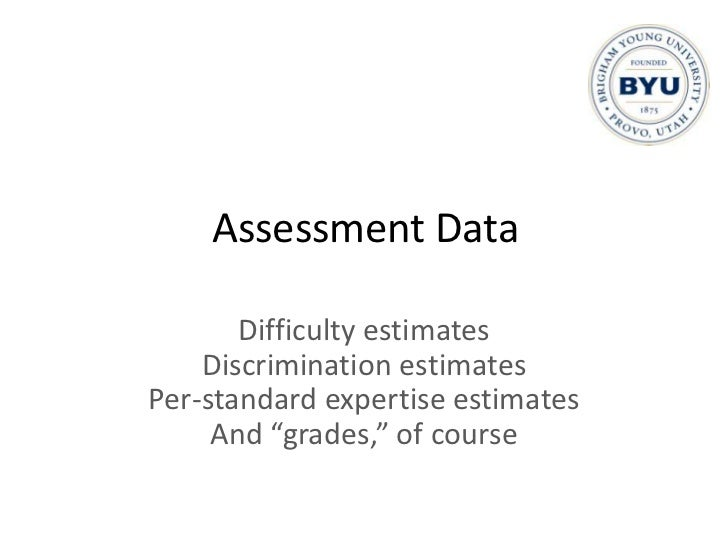 What Kind of Data?<br />Assessment data<br />Non-assessment behavioral data<br />