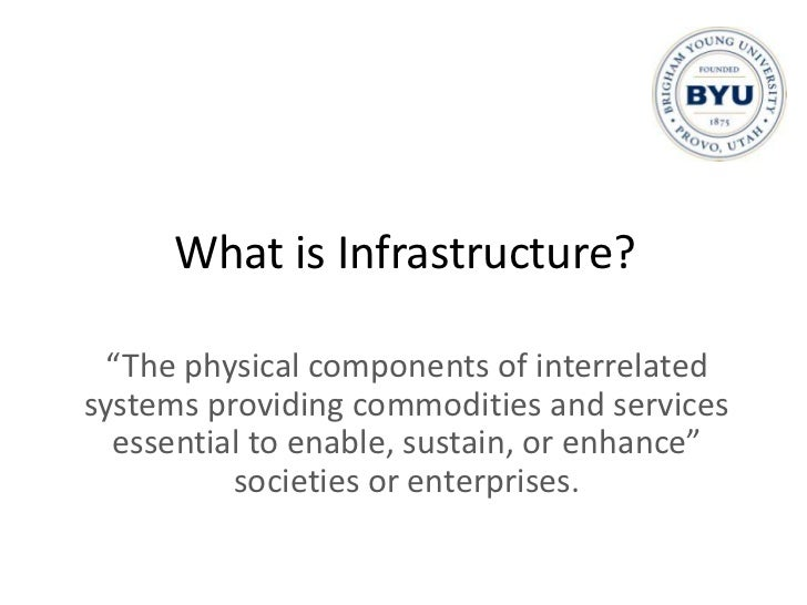 What is Infrastructure?<br />Electric grid, telecom, roads, airports, water, sewer, etc.<br />