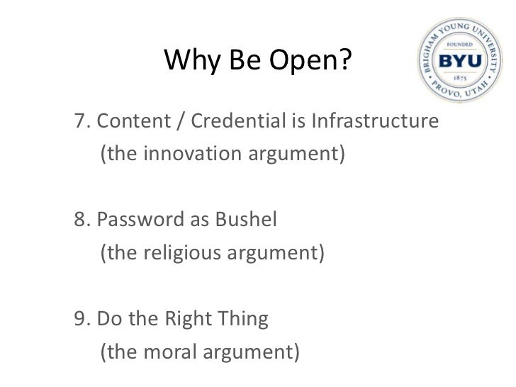 openness: arguments and examples