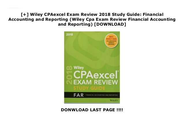 Wiley CPAexcel Exam Review 2018 Study Guide: Financial Accounting…