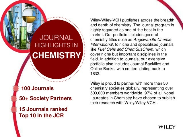 Wiley Journal Citation Report Physical Sciences