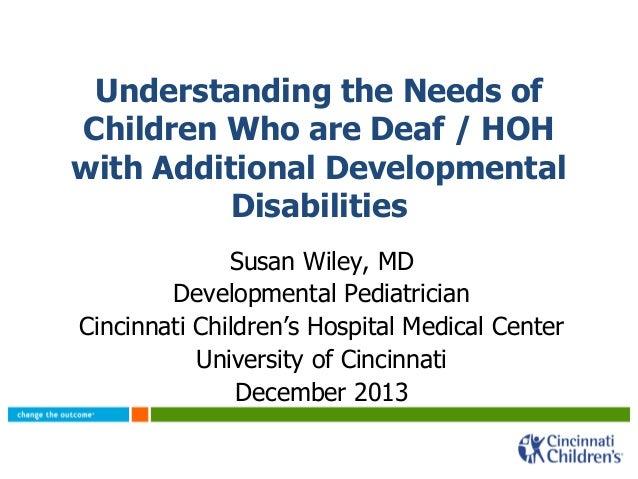 Understand the needs of children and