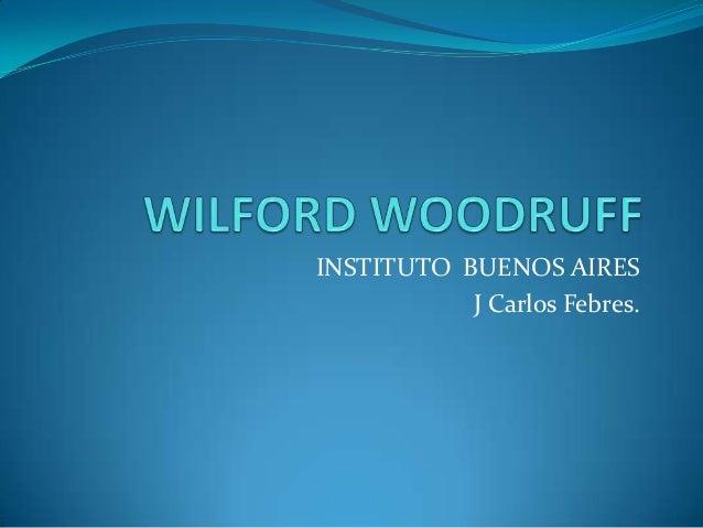 INSTITUTO BUENOS AIRES J Carlos Febres.