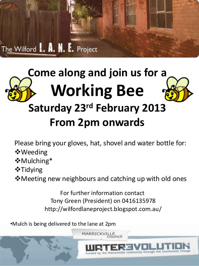wilford working bee 23 feb 2013 flyer