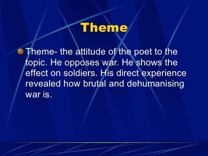 wilfred owen attitude to war