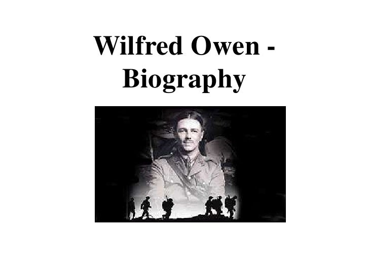 a biography of wilfred owen