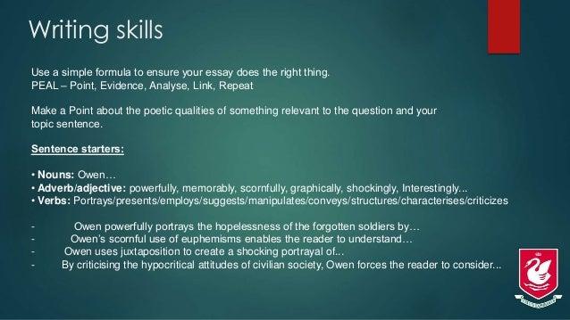wilfred owen poetry as english literature westlake boys cie