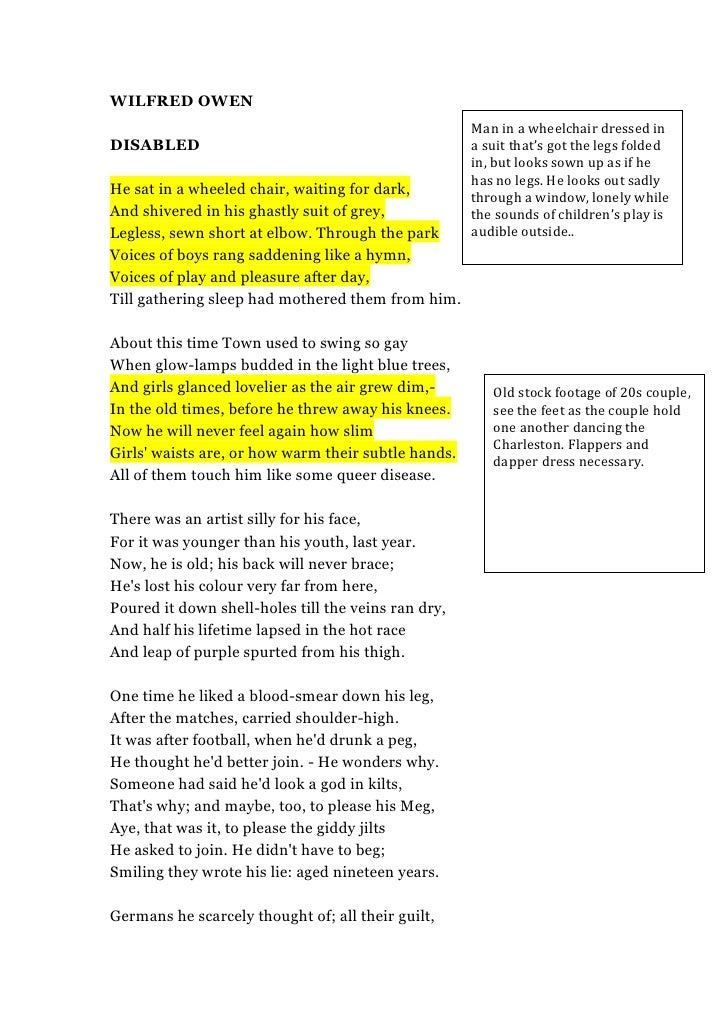 in wilfred owen s poem exposure what Toggle navigation questions & answers for students free plagiarism checker log in compare and contrast 'the charge of the light brigade' by lord tennyson with 'exposure' by wilfred owen get help the rhythm of the poems affects the way these two poems are read exposure is.