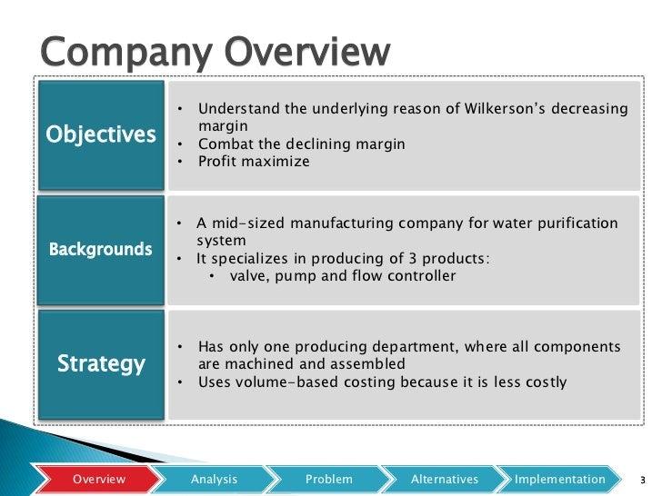 Wilkerson company case