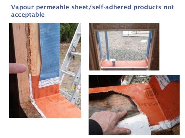 Window Sill Pan Flashings: Are Liquid Membranes Suitable? Slide 3
