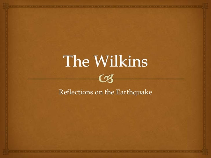 Reflections on the Earthquake
