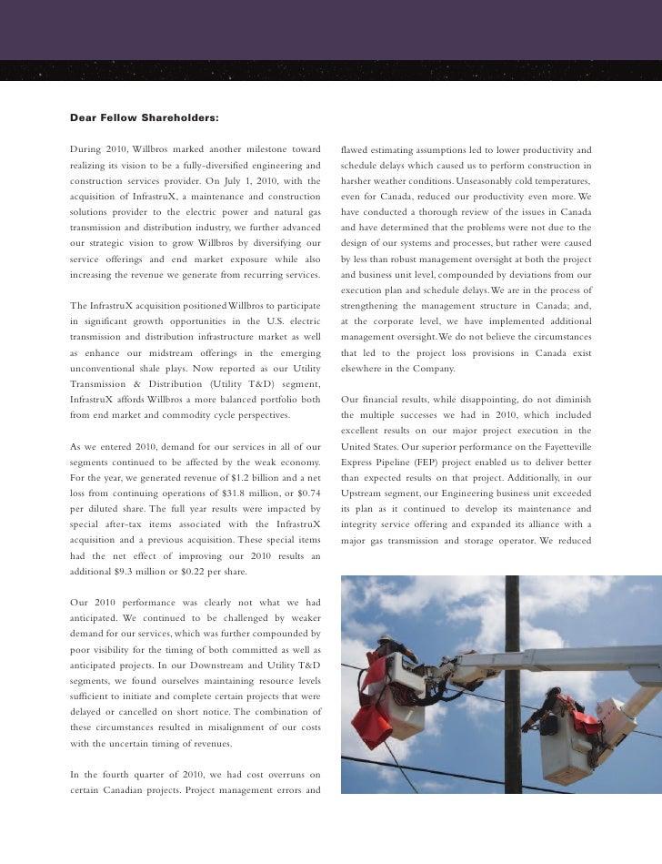 Willbros 2010 Annual Report