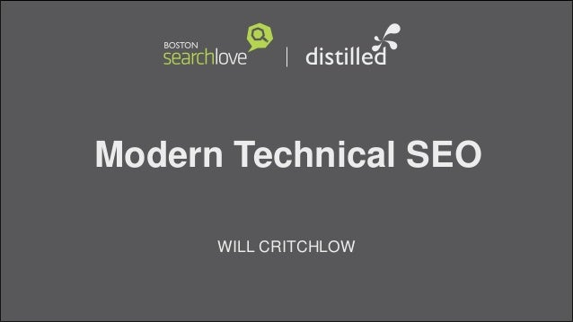 Modern Technical SEOWILL CRITCHLOW