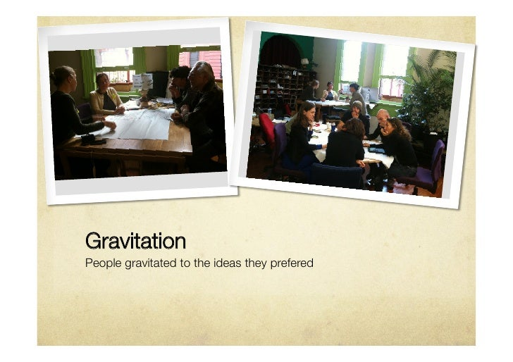 GravitationPeople gravitated to the ideas they prefered