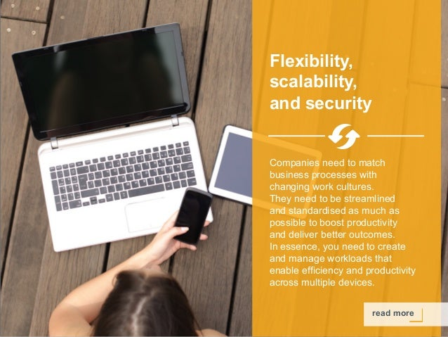 Copyright © 2015 Dimension Data read more Flexibility, scalability, and security Companies need to match business processe...