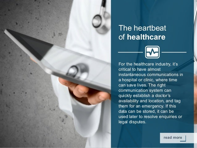 Copyright © 2015 Dimension Data read more The heartbeat of healthcare For the healthcare industry, it's critical to have a...