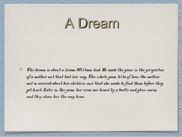 a dream blake