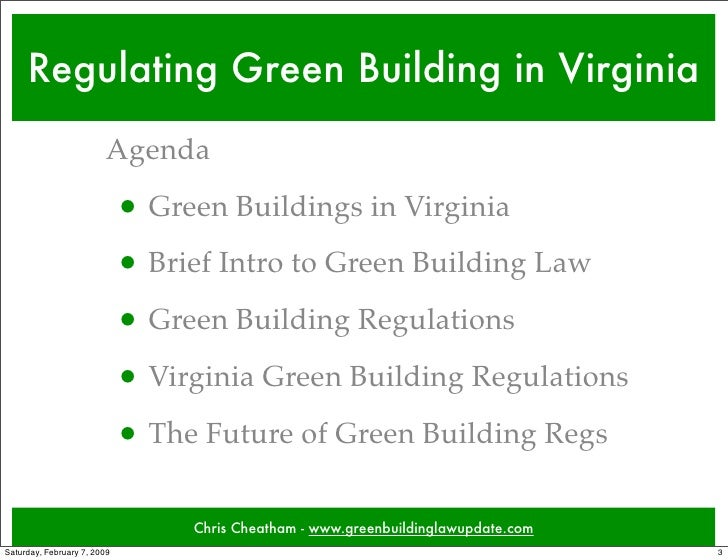Regulating green building in virginia for Builders in va